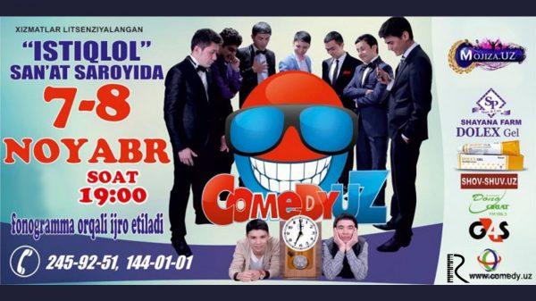 ComedyUZ - Istiqlol san'at saroyidagi konsert dasturi 2015