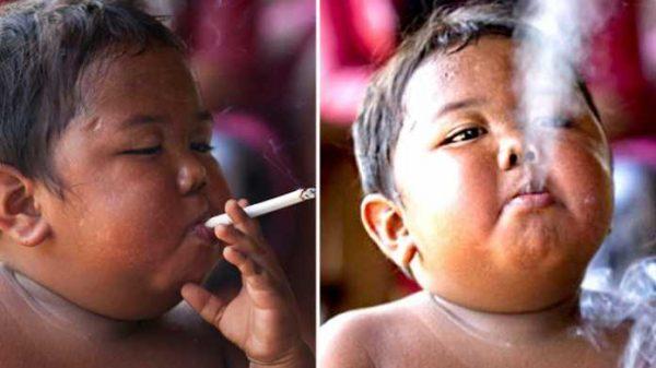 2 yoshligida kuniga 40 tadan sigareta chekkan bola