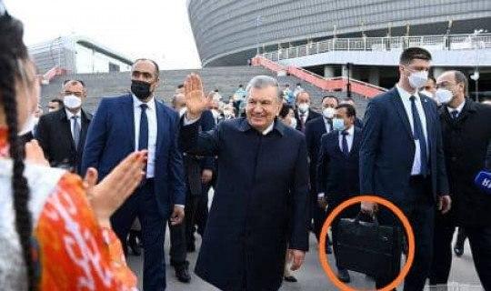 Shavkat Mirziyoyev atrofidagi soqchilar nima uchun qora chemodan ko'tarib yuradi?