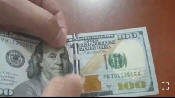 Diqqat! Haqiqiy dollar bilan qalbakisini aniqlashni yana bir yangi usuli bor ekan. Bunaqasini hali ko'rmagansiz aniq (video)