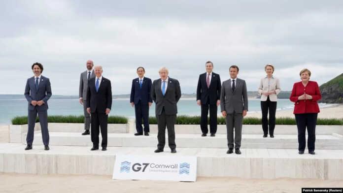 G7 rahbarlari 2022 yilda pandemiyani yengmoqchiligini ma'lum qildi